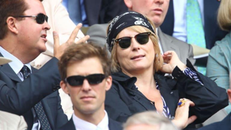 Battle won ... a recovering Jennifer Saunders at Wimbledon last month.