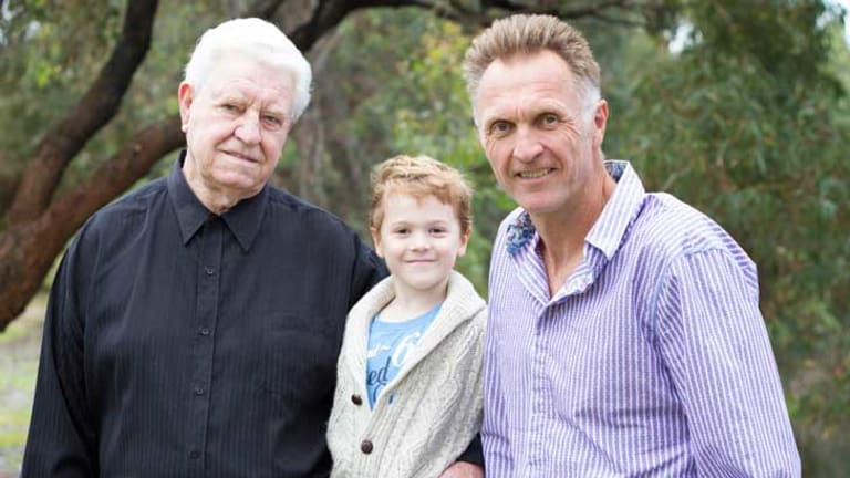Family reunion, Mick, Levi and Neil Brooks