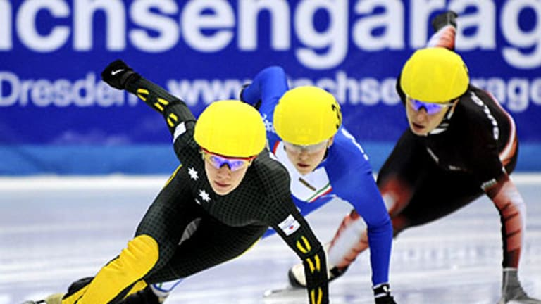 Tatiana Borodulina winning a World Cup race in Dresden as an Australian.