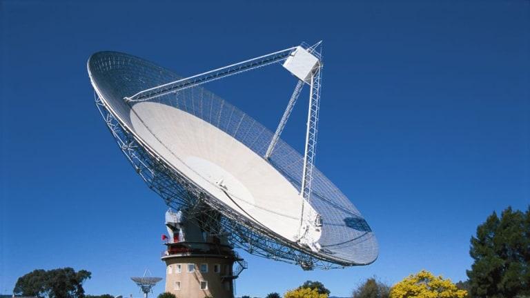 """The Dish"", CSIRO's famous radio telescope in Parkes, New South Wales."