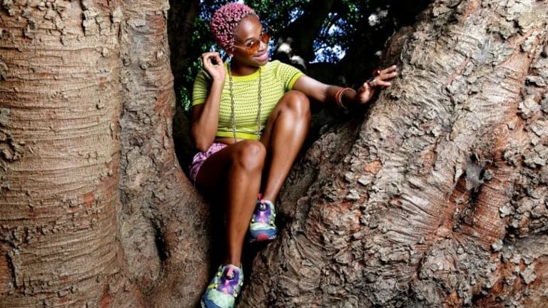 Chart climber: Hip hop star Karol Conka wants to see more women enter the Brazilian music industry.
