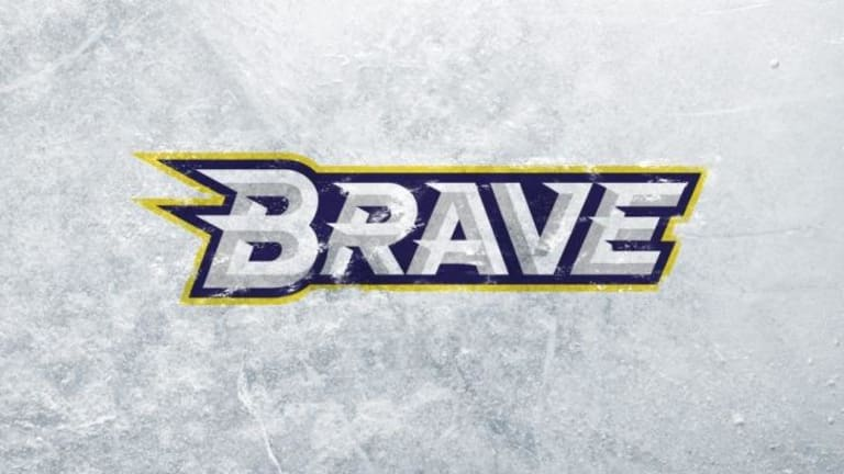Ice branding: The new logo for the CBR Brave ice hockey team.