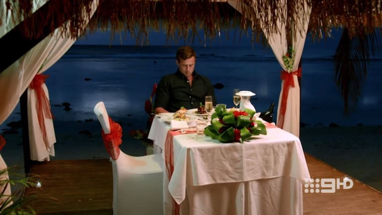 Trouble in paradise: Ryan is party of one.