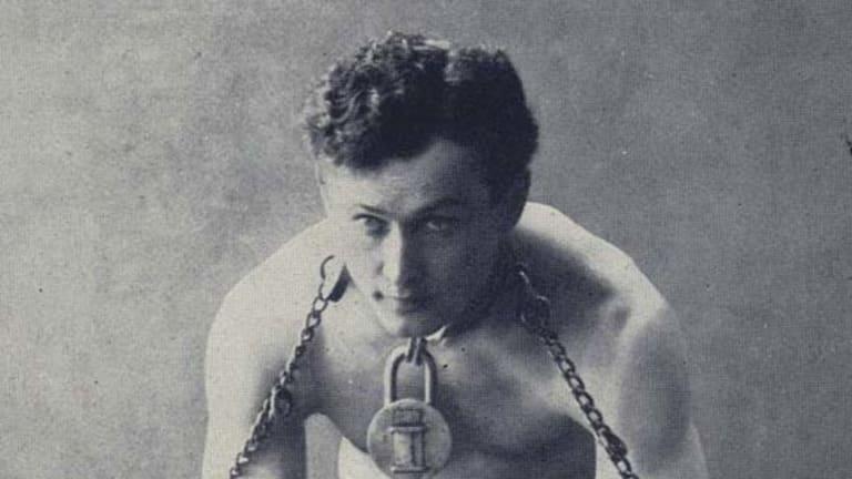 Escape-artist, Harry Houdini.