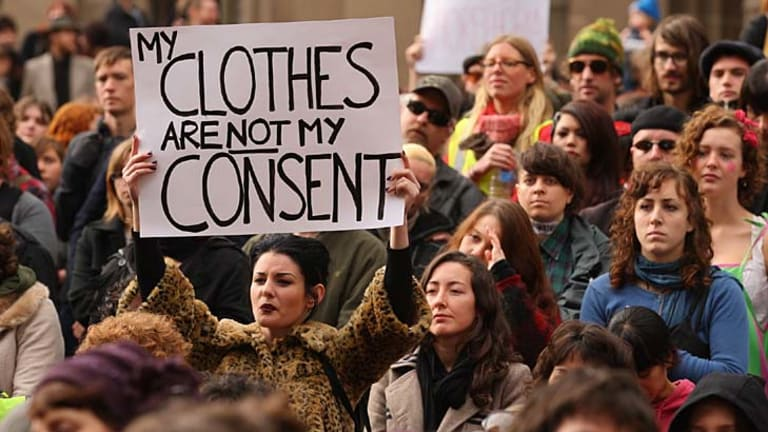 About 3000 people gathered in Melbourne yesterday as part of the international protest movement known as SlutWalk.