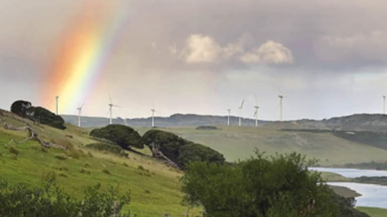 Ross Garnaut's draft report demands greater commitment to renewable energy like these wind turbines atPortland in far western Victoria.