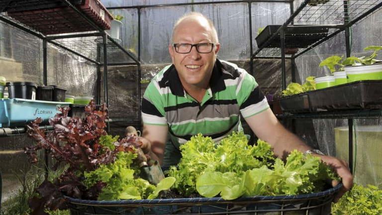 Brett King, a keen gardener in Canberra for over 30 years.