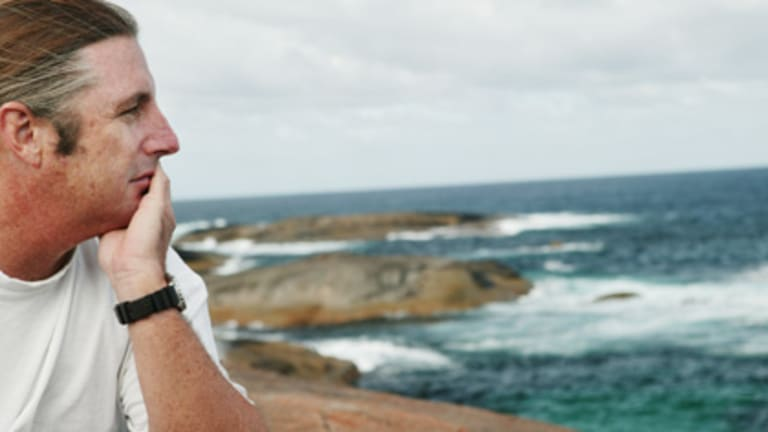 Perth Based Author Tim Winton in Denmark, South West WA.