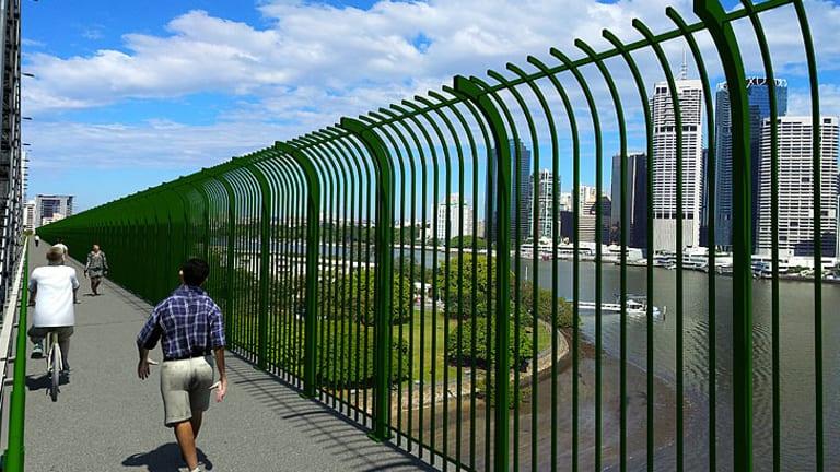 Brisbane City Council plans to erect barriers on the Story Bridge to prevent suicides.