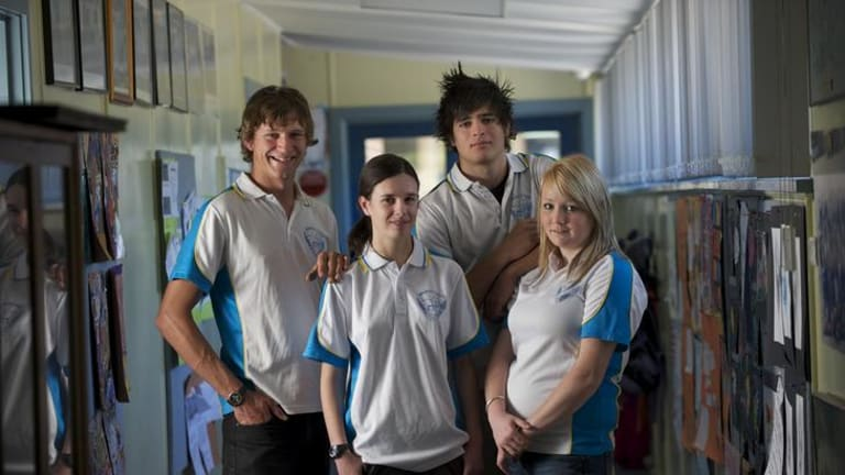Cann River College's VCE class of 2011 (left to right): Marcus Austen, Tegolin Spink, James Perdicaro and Tayla Henderson.