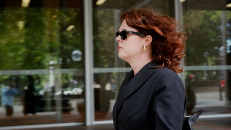 Legal battle: Former Oracle manager Rebecca Richardson leaves court in 2012.
