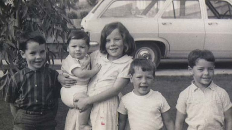 The Day children: Bill, Gregory in Madeleine's arms, Tim and Peter in 1966.
