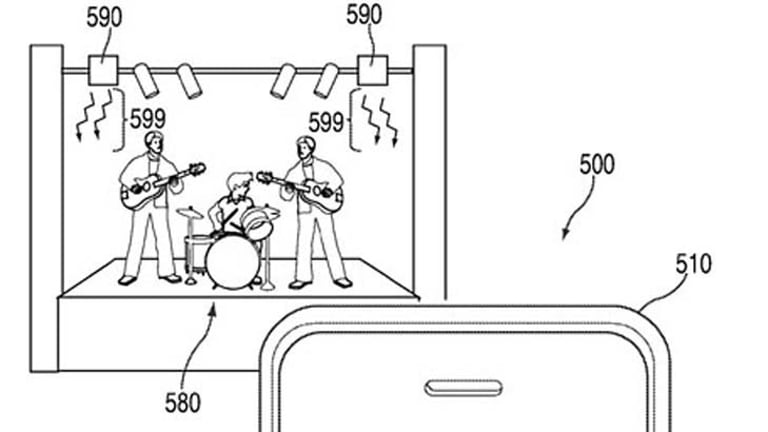 A grab from Apple's patent which disables recording functions on mobiles.