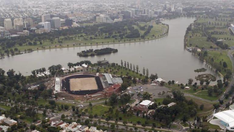Albert Park Lake in Melbourne, the site of the Australian Grand Prix.