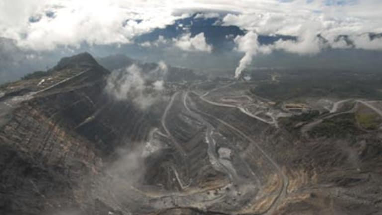 What is theirs is mine ... the open cut mine and process plant that makes up Porgera mine in Papua New Guinea.