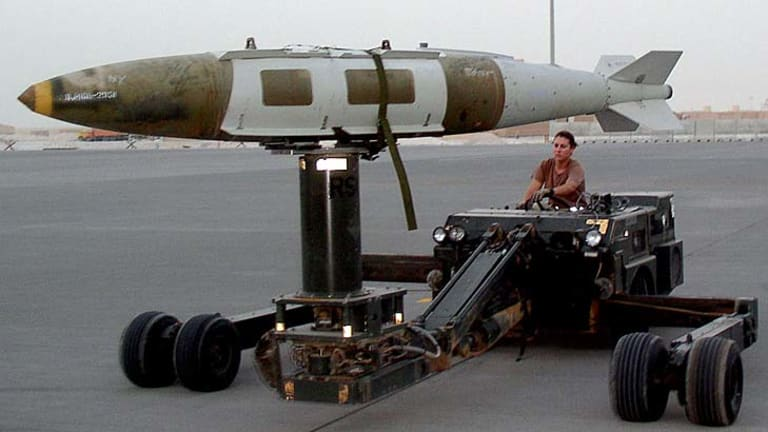 A GBU-31 bunker-buster bomb.