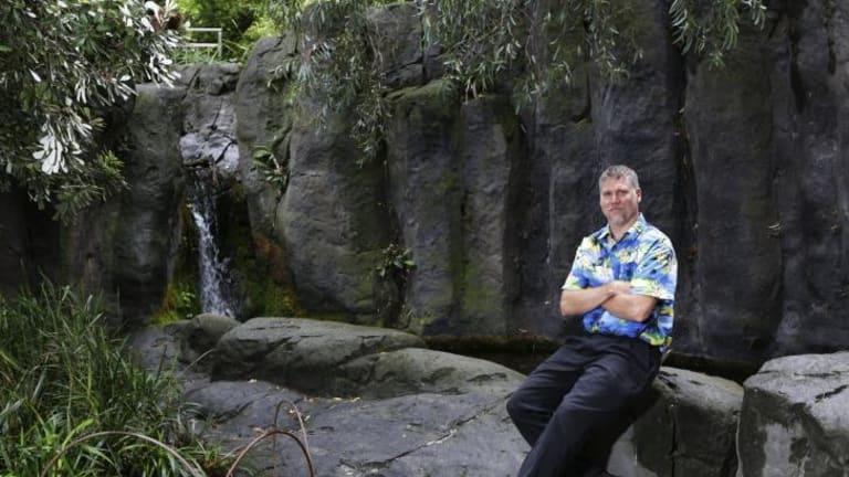 John Patten in Milarri garden at Melbourne Museum.