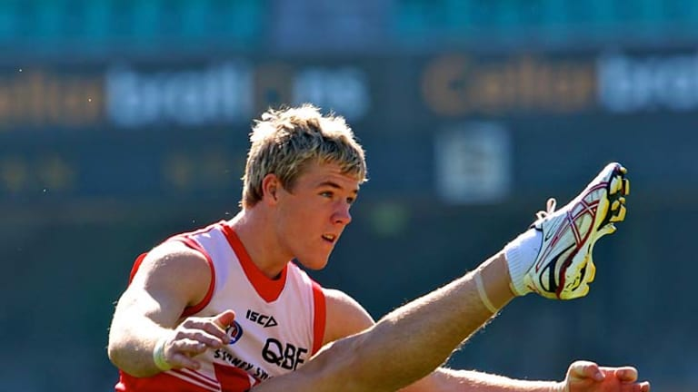 High achiever: Swans recruit Luke Parker is already impressing in his first season.
