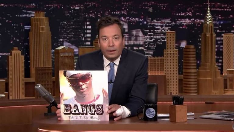Jimmy Fallon lampooned Melbourne rapper Bangs' song <i>Take U to Da Movies</i> on his show on Thursday night.