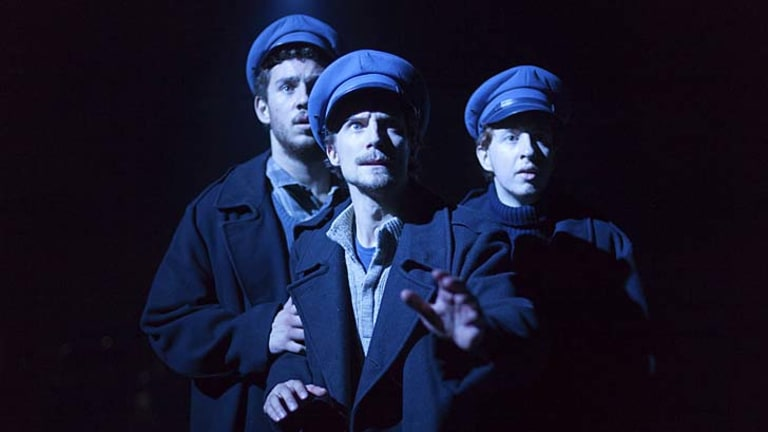 Haunted memories ... from left, Daniel Macey, Mitchell Riley and Alexander Knight in the opera about a lighthouse whose three keepers have vanished.
