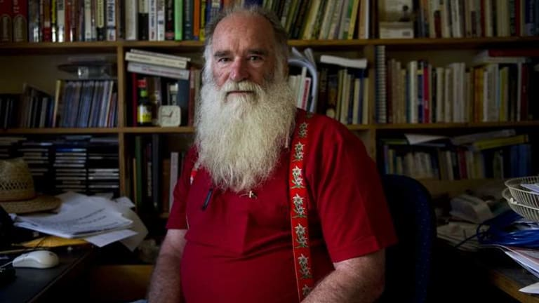 President of The Canberra & Queanbeyan ADD Support Group support group Richard Windsor in his office.