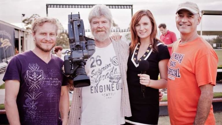 Director Dan Macarthur, Michael Crowley, producer Melanie Poole and director of photography Andrew Conder.