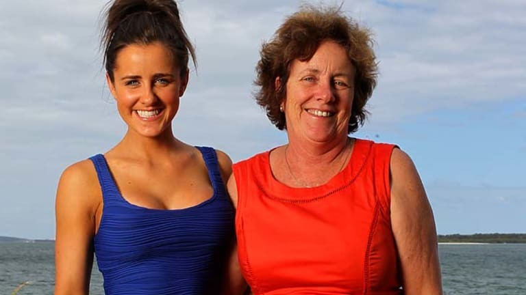 Traumatic: Julie Fitzsimons, right, with daughter Kate.