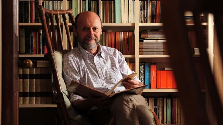 At home: Author, publisher and artist, Julian Davies on his rural property near Braidwood, NSW.