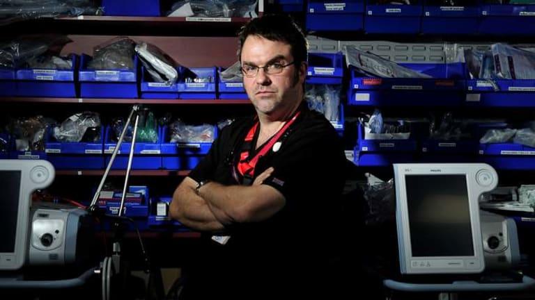 Doctor David Caldicott, the new toxicology expert at Calvary Hospital's emergency department.