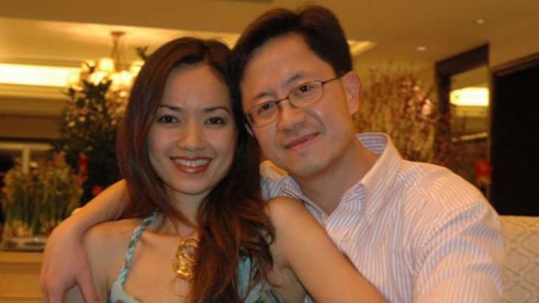 Matthew Ng with wife Niki Chow in a file picture.