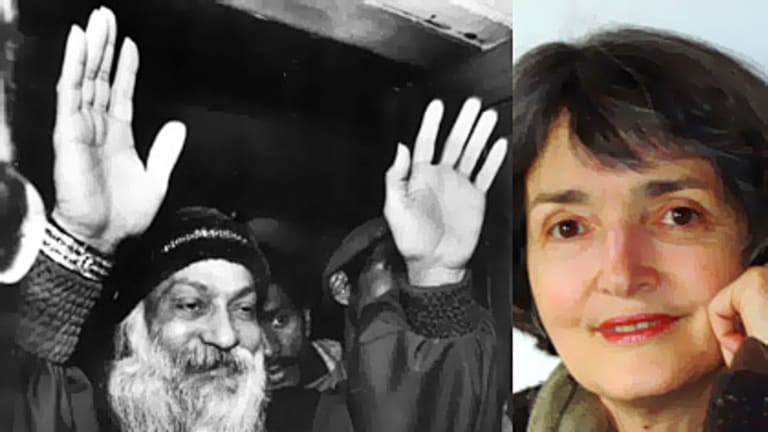 """Sex guru"" Bhagwan Shree Rajneesh and Jane Stork, formerly ""Ma Shanti Bhadra""."