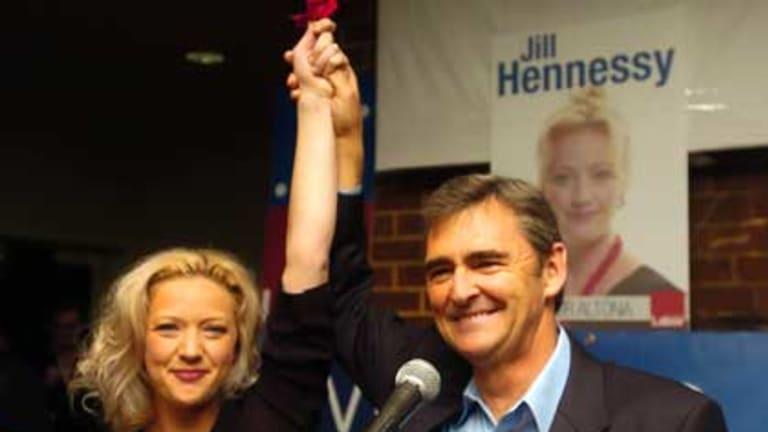 New member for Altona Jill Hennessy and Premier John Brumby.