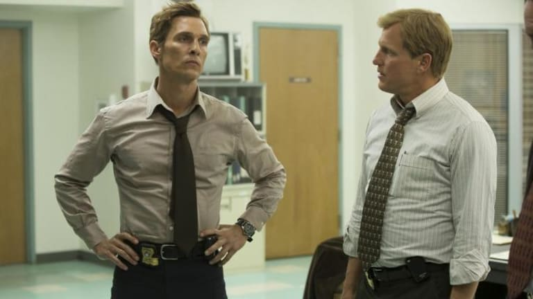 Top acts: Matthew McConaughey and Woody Harrelson in <i>True Detective</i>.