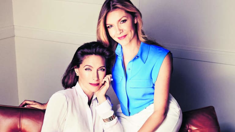 Soul sisters: Claudia Karvan (left) and Justine Clarke have been friends since childhood and co-star in the new series <i>The Time of Our Lives</i>.