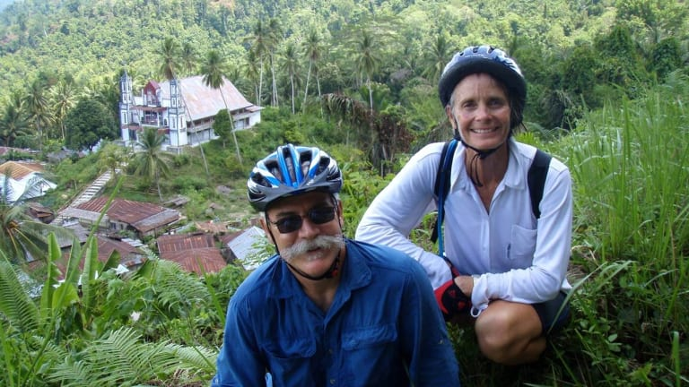 With wife, Lisa Peine, in Sulawesi, Indonesia, 2007.