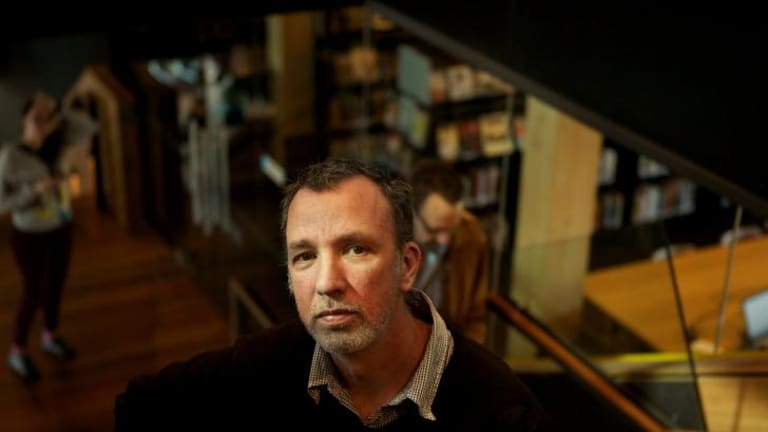 David Ryding, Melbourne's  inaugural City of Literature director at the Docklands library.