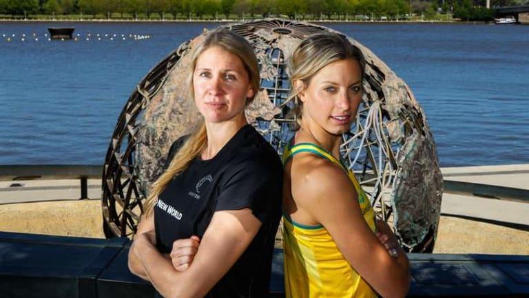 NZ captain Casey Kopua and Australian captain Laura Geitz prepare for the last game of the series.