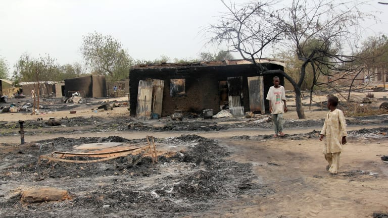 The north-east town of Baga, Nigeria, pictured in 2013, has seen repeated attacks from Boko Haram.