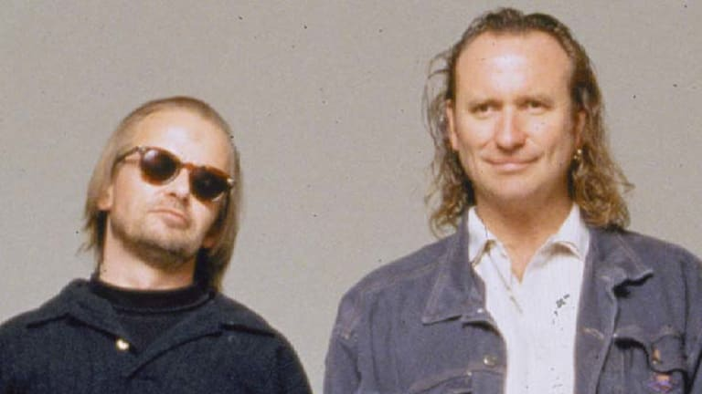 Greg Ham (left) with Colin Hay.