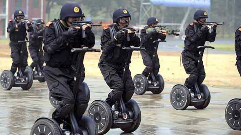China's Segway police unit.