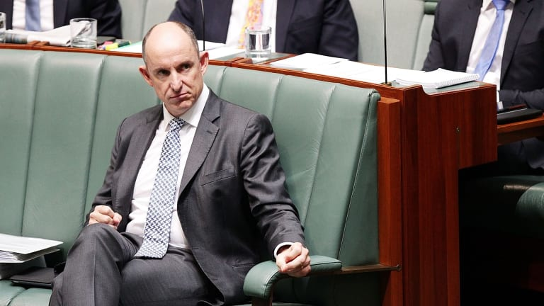 Questions over donations: Turnbull MP Stuart Robert in the House of Representatives.