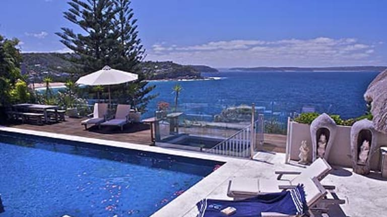 The Whale Beach luxury residence where a  rendezvous took place.