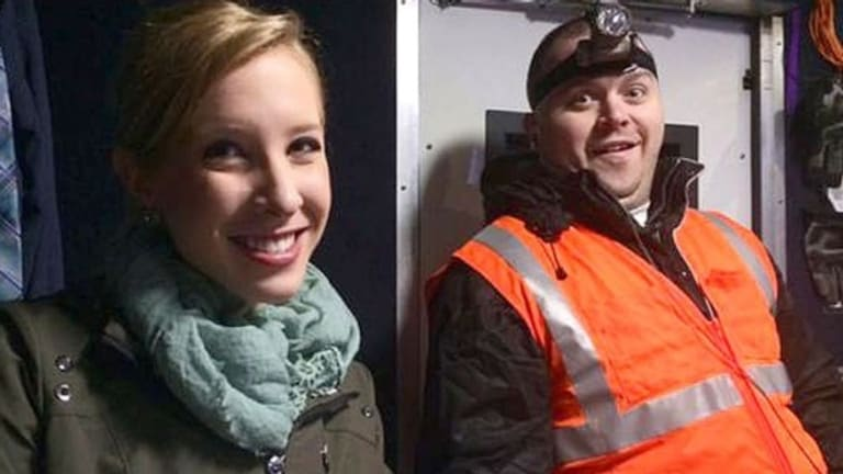 Shot dead: Alison Parker and Adam Ward had worked together regularly, posting photos to Twitter.