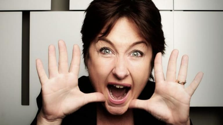 An inspiration: Australian comedian Fiona O'Loughlin.