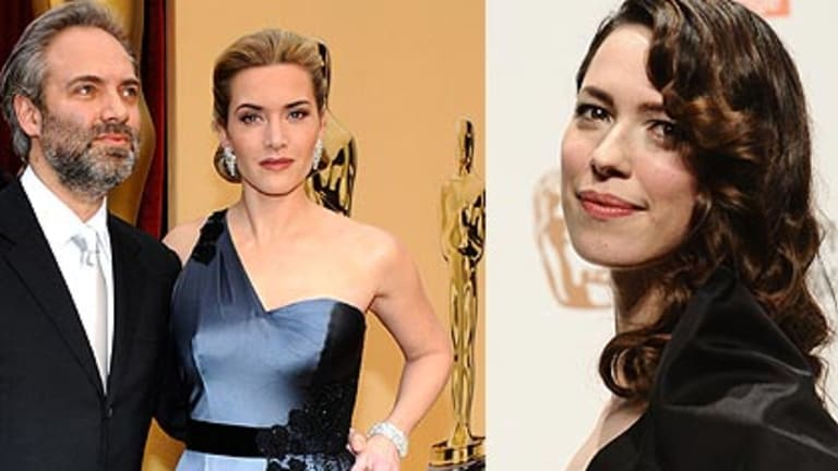 Sam Mendes, Kate Winslet and, right, Rebecca Hall.