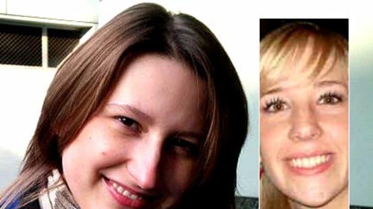 Room-mates ... Maria Surkova and Britt Lapthorne (inset).