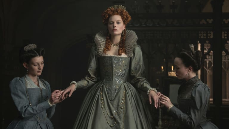 Margot Robbie stars as Queen Elizabeth I in Mary, Queen of Scots.