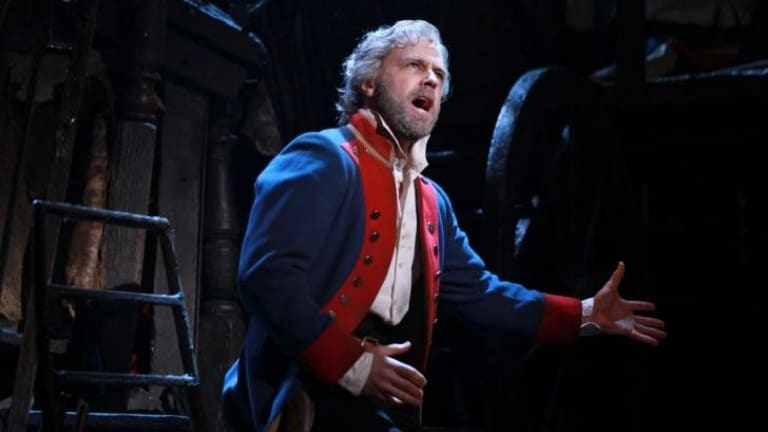 Simon Gleeson in <i>Les Miserables</i>.
