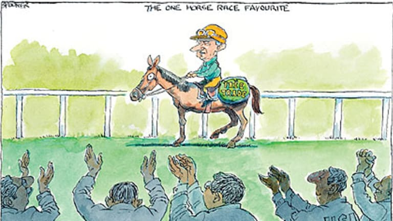 The one horse race favourite.