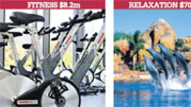 Money spent on gym equipment, accommodation and venue hire at Sea World, courses at Harvard University and fees at Singapore's Sembawang Country Club.